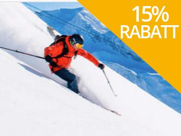 15% rabatt hos Sunweb på skidresor till Österrike, Italien och Frankrike
